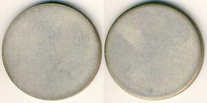 20-Mark-Brand-Tor-Silber-unbepraegter-Rohling-ohne-Randschrift-Fehlpraegung-vz
