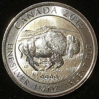 2015 Canada $8 1.25oz 1 1//4 oz Bison .9999 Fine Silver Bullion coin round