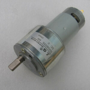 DC12V 24V 5-300RPM 50GB555 Gear Motor Large Torque with Gearbox For DIY Model