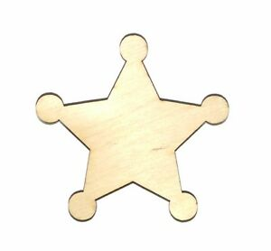 Accessories Police Badge  Shield Wood Cutout Shape A