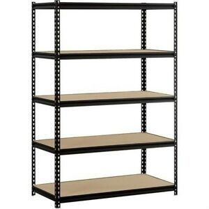Heavy-Duty-Shelf-Garage-Steel-Metal-Storage-5-Level-Adjustable-Shelves-Unit-NEW