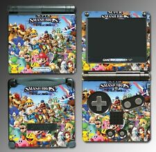 New Super Smash Bros 3DS Wii Mario Yoshi Video Game Skin Cover Nintendo GBA SP