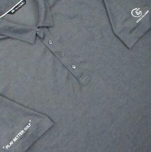 Mens-Travis-Mathew-polo-Golf-Shirt-XL-gray-cool-clubs-cotton-poly
