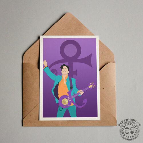 PRINCE Minimalist Movie Poster Posteritty Minimal Print Purple Rain Doves Cry