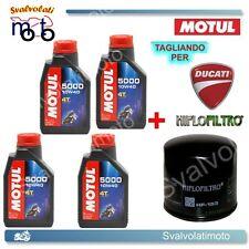 TAGLIANDO FILTRO OLIO + 4LT MOTUL 5000 10W40 DUCATI 750 MONSTER 1996 1997 1998