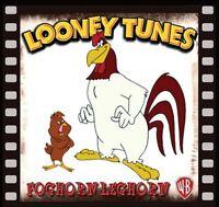 Foghorn Leghorn, Henery Hawk Fridge Magnet Logo 7. 4 X 4. Looney Tunes.