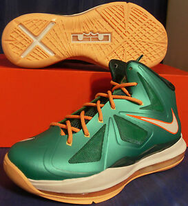 d07f581b235d Nike Lebron X 10 Miami Dolphins Setting SZ Youth 6.5Y ( 543564-302 ...