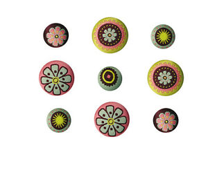 LOT-9-BOUTON-BRODE-OLDIES-VERT-AUBERGINE-ROSE-FLEURS-ROND-SCRAPBOOKING-COUTURE