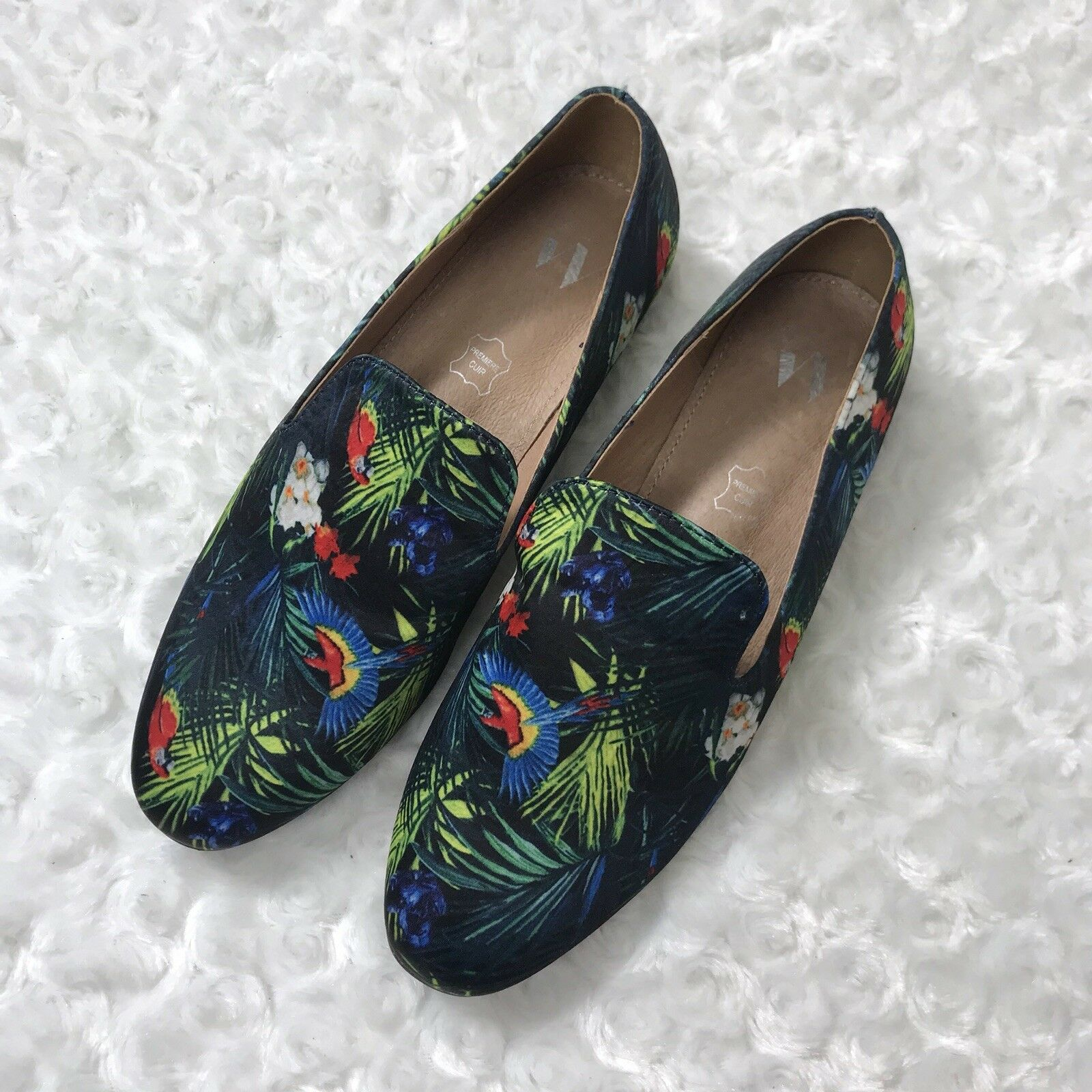 Vanessa Wu 36 6 Tropical Parrot Novelty Novelty Novelty Print Loafers Flats Schuhes Anthropologie c3c1dc