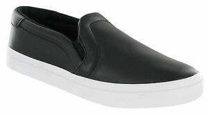 best sneakers e5127 68b01 Image is loading Adidas-Court-Vantage-Slip-On-Flat-Black-Cushioned-