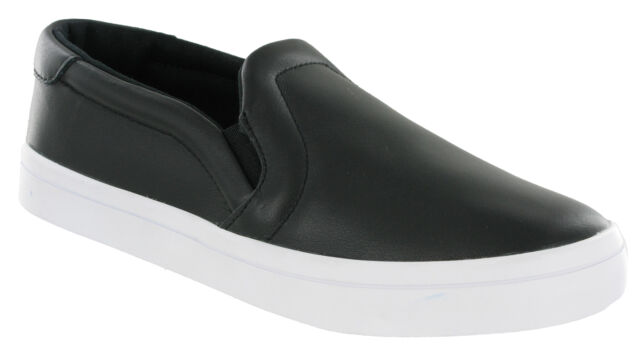 size 40 cd549 67e6b Adidas Court Vantage Slip On Flat Black Cushioned Fashion Shoes Womens  S75167