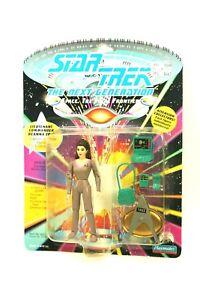 NEW-Sealed-STAR-TREK-TNG-Playmates-5-034-Figure-LT-CMDR-DEANNA-TROI-Logo-Base