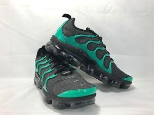 newest 388f1 47b14 Details about Nike Air Vapormax Plus SZ 10.5 Black Clear Emerald Green  Eagles TN 924453-013