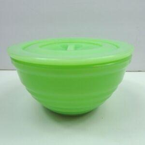 Vintage-Green-Jadeite-Glass-Drippings-Bowl-Jadite-Grease-Jar-Lid-Beehive