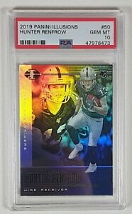 Hunter Renfrow 2019 Panini Illusions Rookie Card RC PSA 10 POP only 1!