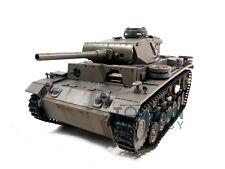 100% Metal Mato 1/16 Panzer III RC KIT Tank Model BB Shooting Pellets Gray 1223
