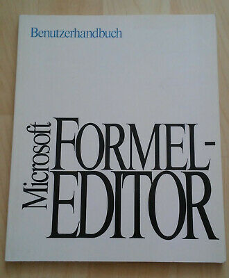 """Gastfreundlich Heft Microsoft Formel-editor Benutzerhandbuch *sehr Guter Zustand"""""""