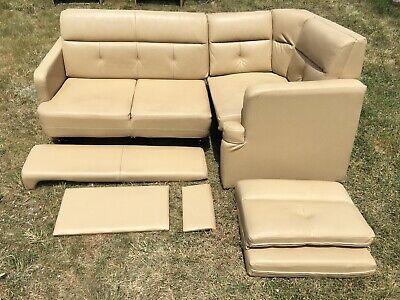 Flexsteel Tan Power J Lounge Jackknife Sofa Couch Bed