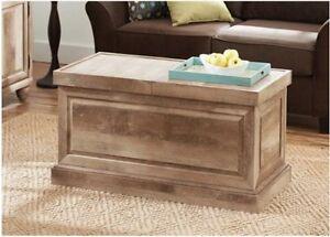 coffee table storage wood trunk furniture living room weathered rustic reclaimed ebay