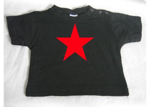 RED STAR BABY Black Baby-T-Shirt