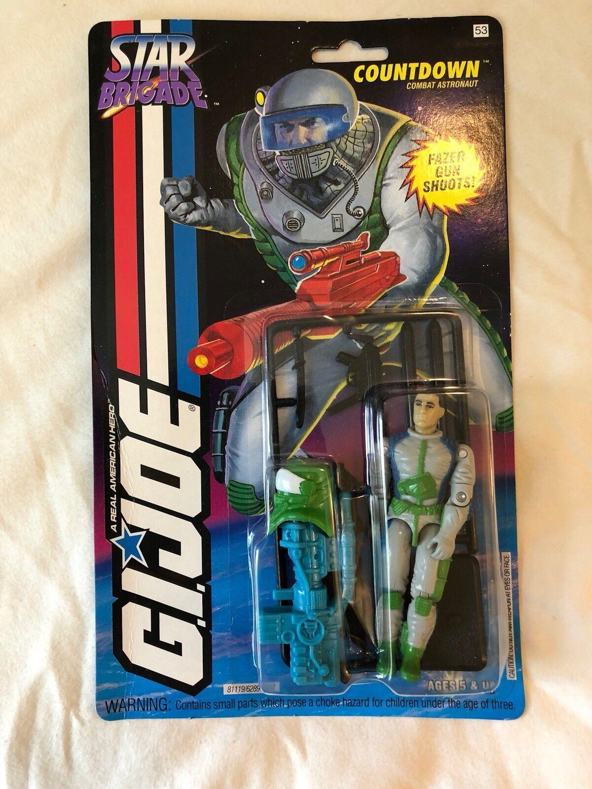 Projootipo De Colección Gi Joe Star Brigade cuenta regresiva (blancoo Visera) 1993 menta en tarjeta