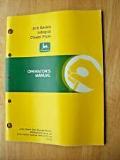 Original John Deere 610 Series Integral Chisel Plow Operators Manual Omn200676