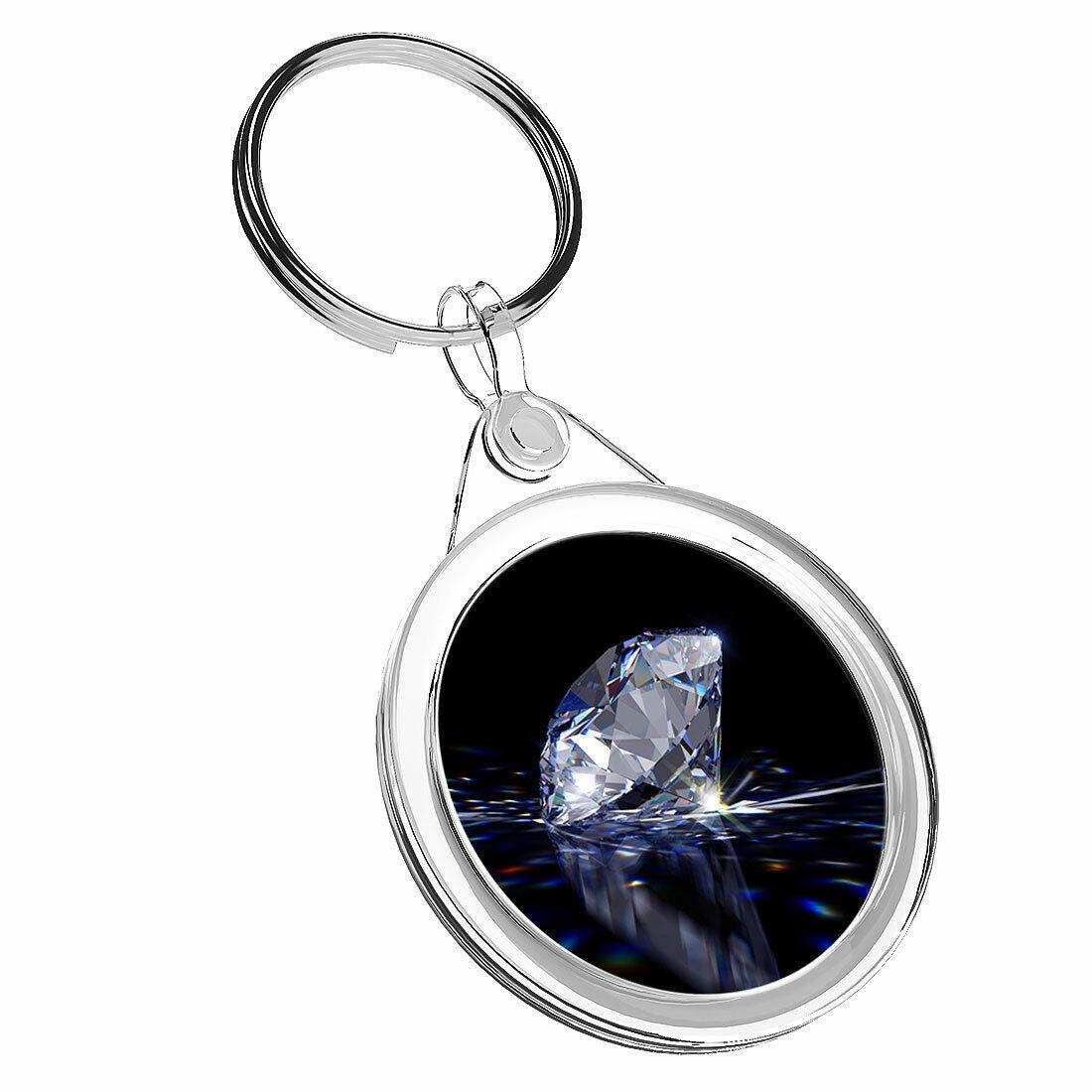 1 Diamond cristal piedra Bonita-x KEYRING IR02 mamá DAD Niños Regalo de Cumpleaños #2165