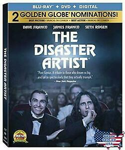 The Disaster Artist Blu Ray Dvd Disc Zac Efron Zoey Deutch Dylan