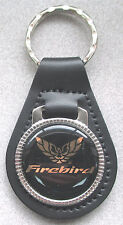 Vintage Pontiac FIREBIRD Leather Goldtone Keyring 1967 1968 1969 1970 1971 1972