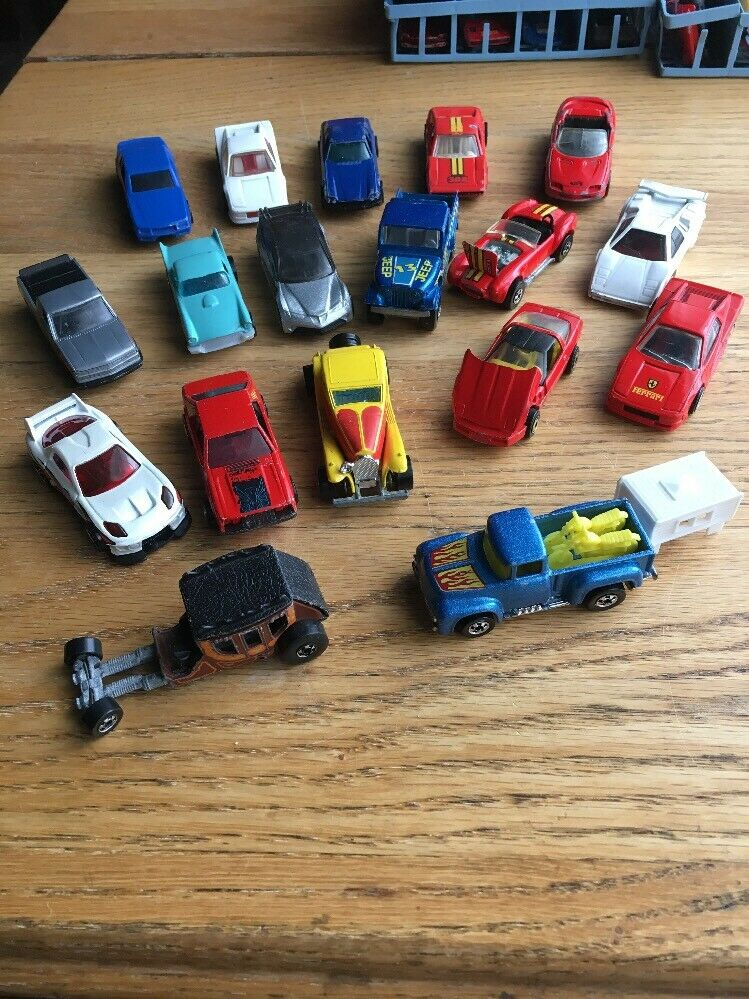 Vtg 70s 80s 90s Hot Wheels Matchbox Matchbox Matchbox 67 Toy Car Lot Ferrari Porsche Chevy Truck 36b