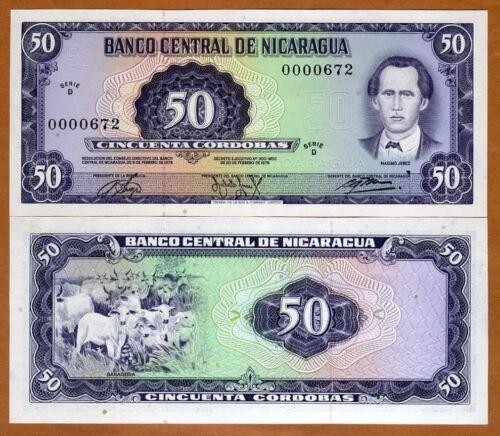 UNC /> Low S//Ns Pick 130 50 cordobas D-Serie 1978 L Nicaragua