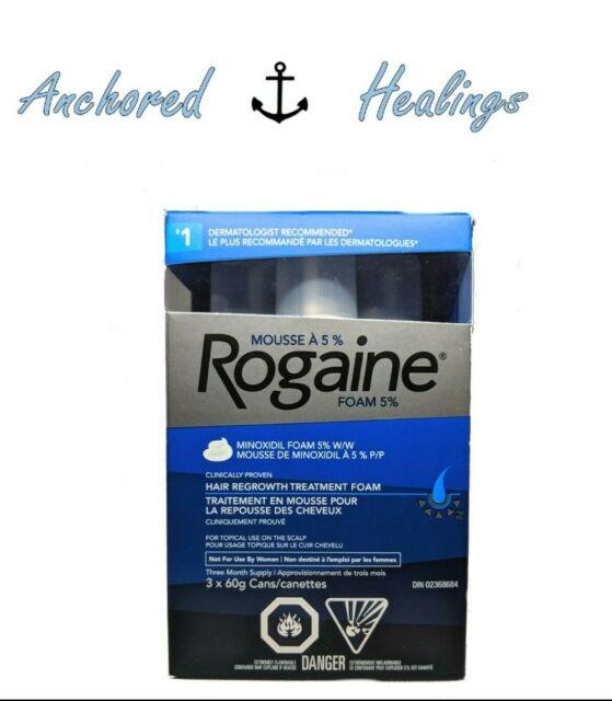 Rogaine Men Hair Regrowth Treatment Minoxidil Topical Foam 5% 3x60grams