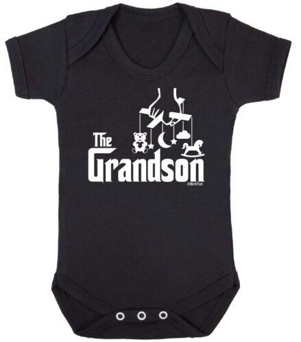 THE GRANDSON Funny Boys Babygrow Vest Bodysuit Grandad Gift Newborn Clothing