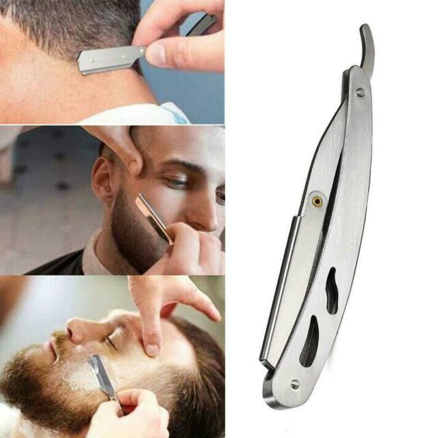 Classic Straight Steel Edge Barber Razor Folding Shaving
