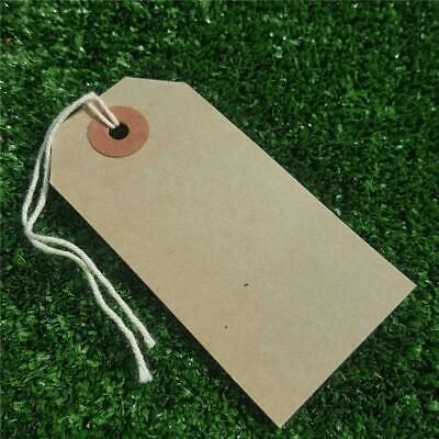20 MEDIUM BROWN CARD TIE ON PRICE TAGS LABELS TIES//STRING PRICING LUGGAGE BAG
