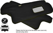 YELLOW STITCHING 2X SUN VISORS LEATHER COVERS FITS TOYOTA COROLLA GT AE82