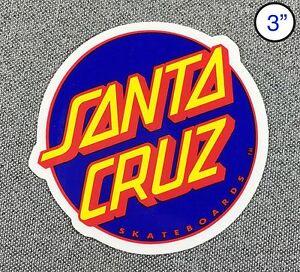 Santa Cruz Other Dot Skateboard Sticker Navy//Red 3in si