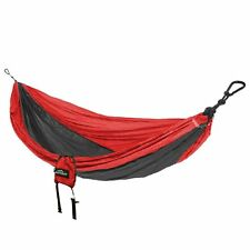 castaway travel hammocks all in one double hammock  blue red green  castaway travel double hammock red  charcoal nylon material   ebay  rh   ebay