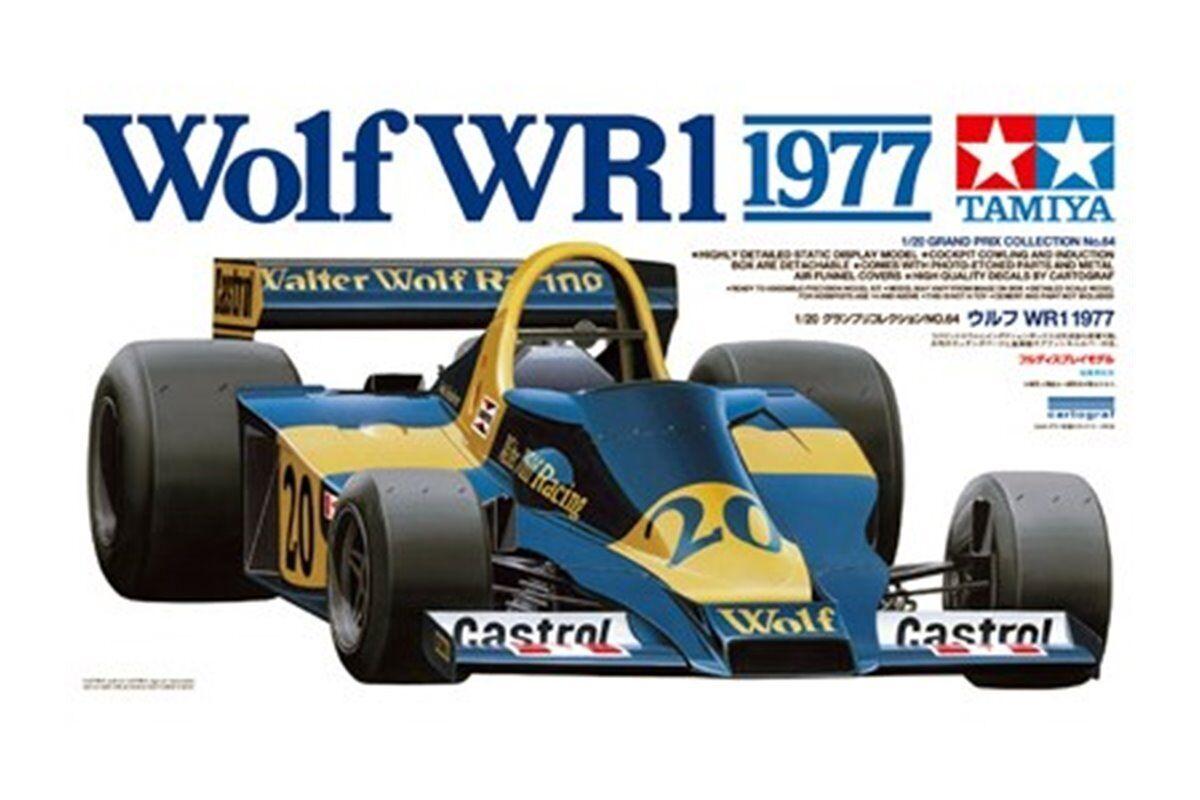 Tamiya Tamiya Tamiya 20064 1 20 Maquette Wolf WR1 1977 78b