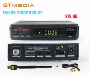 Details about GTMEDIA V7S HD 1080P DVB-S2 Digital Receiver,PowerVu,Biss  key,YouTube +USB WiFi