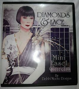 Diamonds-amp-Lace-Mini-Easel-Card-CD-ROM-with-430-Elements-to-Print-by-Debbi-Moore