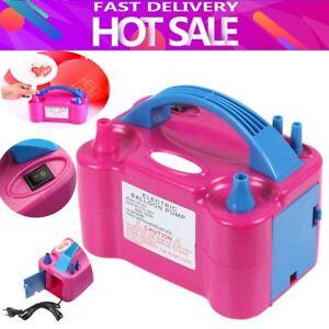 Portable-Electric-Balloon-Pump-Ballon-Inflator-600W-Power-Twin-Nozzles-EU-sr
