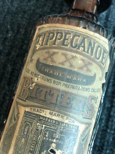 Rare Tippecanoe Bitters bottle with Label