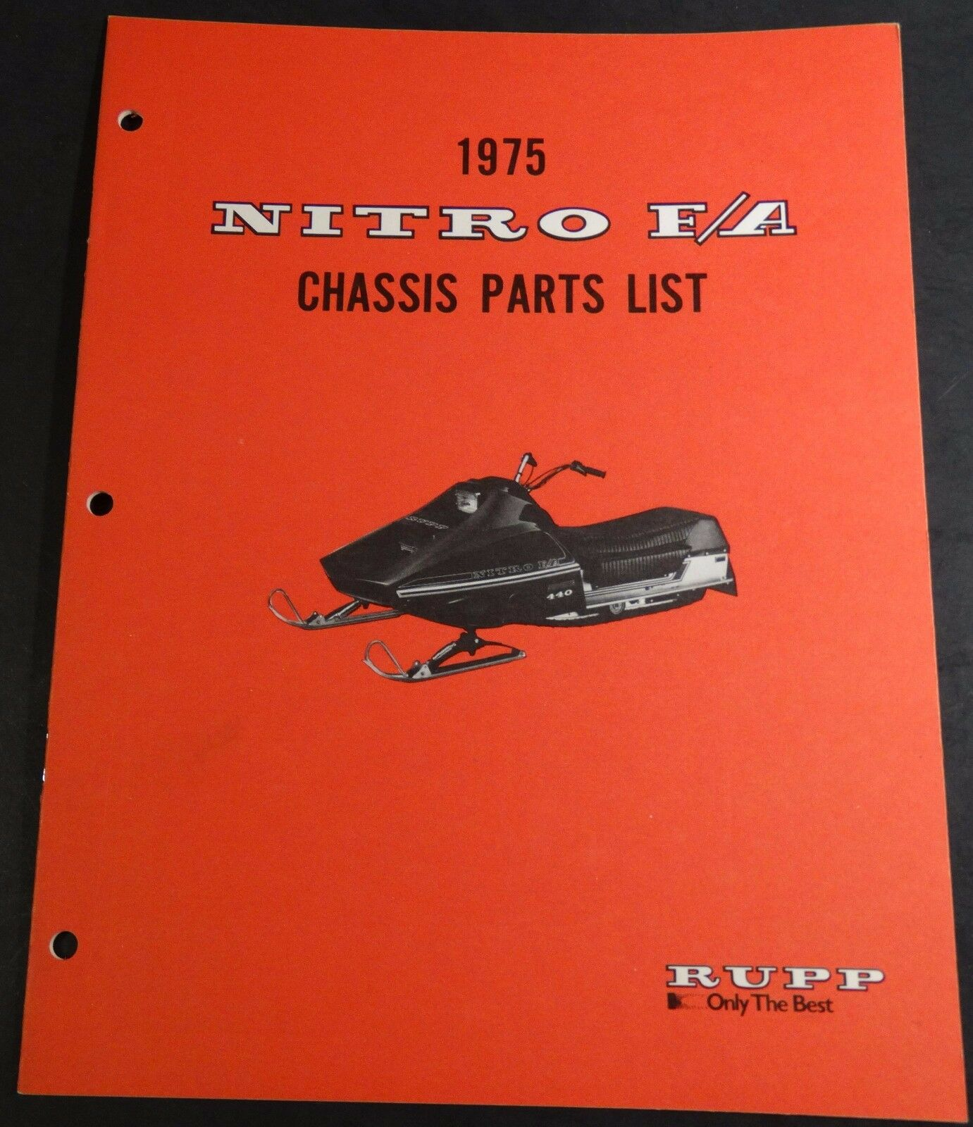 1975 RUPP NITRO F A SNOWMOBILE CHASSIS PARTS MANUAL NEW P N 37620  (231)