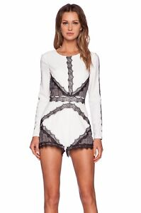 Black Sleeve Ivory Lace W Sz Entrapment 240 Romper Nbd Xs Nwt Long Playsuit xWn0wX