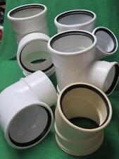 """5pc SDR35 6"""" TEE WYE 90° ELBOW GASKETED PVC FITTING SEWER STORM DRAIN PIPE 6x6x4"""