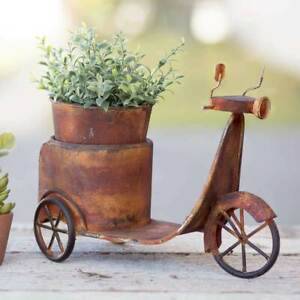 Rusty-Scooter-Planter