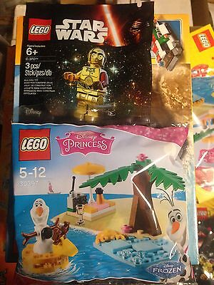 2019 Ultimo Disegno Lego 5002948 Star Wars - C-3po Braccio Rosso Minifigure + 30397 Olaf Frozen Lustro