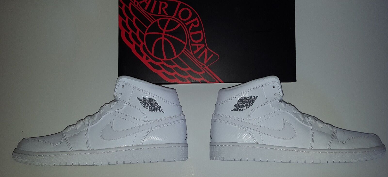 NIKE AIR JORDAN 1 RETRO HIGH  MEN'S SIZE 11 WHITE/COOL GREY-WHITE NEW IN BOX DS The most popular shoes for men and women