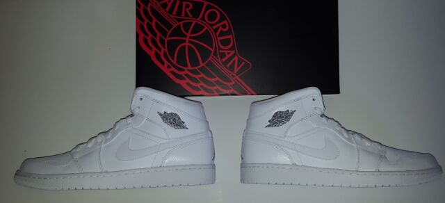 551b7fb83efb0d Nike Air Jordan 1 Mid 554724-120 White Cool Grey Size 11 for sale ...